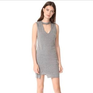 Pam & Gela Choker Mini Dress Heather grey